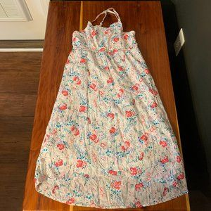 Old Navy Girl's White Floral Maxi Dress Small 6/7